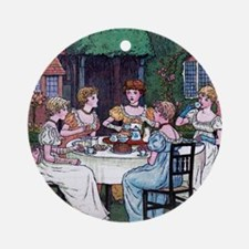 Tea Party Ornament (Round)