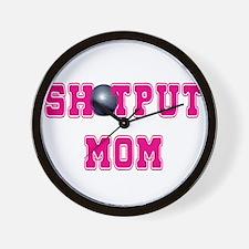 Shotput Mom Wall Clock
