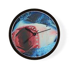 Shark Oil Painting Wall Clock