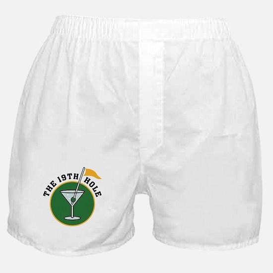 19th Hole golf Boxer Shorts