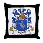 Wolff Family Crest  Throw Pillow