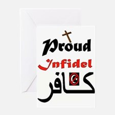 PROUD INFIDEL Greeting Cards