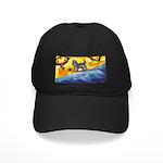 Schnauzer at the beach Black Cap