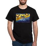 Schnauzer at the beach Dark T-Shirt