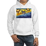 Schnauzer at the beach Hooded Sweatshirt