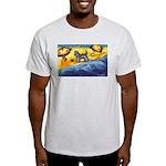 Schnauzer at the beach Light T-Shirt