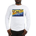 Schnauzer at the beach Long Sleeve T-Shirt
