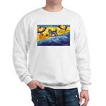 Schnauzer at the beach Sweatshirt