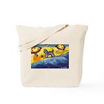 Schnauzer at the beach Tote Bag