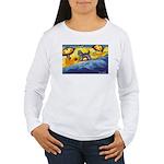 Schnauzer at the beach Women's Long Sleeve T-Shirt
