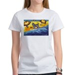 Schnauzer at the beach Women's T-Shirt