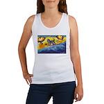Schnauzer at the beach Women's Tank Top