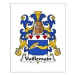 Vuillemain Family Crest  Small Poster