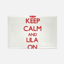 Keep Calm and Lila ON Magnets