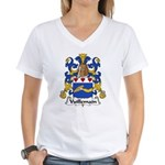 Vuillemain Family Crest  Women's V-Neck T-Shirt