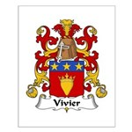 Vivier Family Crest Small Poster