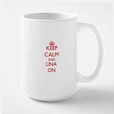 Keep Calm and Lina ON Mugs