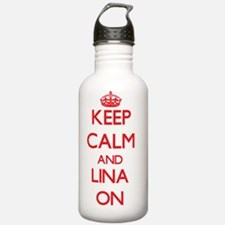 Keep Calm and Lina ON Water Bottle