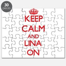 Keep Calm and Lina ON Puzzle