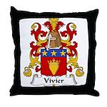 Vivier Family Crest Throw Pillow