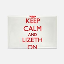 Keep Calm and Lizeth ON Magnets