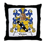 Vivien Family Crest Throw Pillow