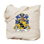 Vivien Family Crest Tote Bag