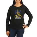 Vivien Family Crest Women's Long Sleeve Dark T-Shi