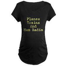 Planes,Trains,and Ham Radio T-Shirt