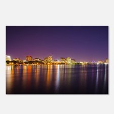 Boston Skyline at Night Postcards (Package of 8)