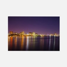 Boston Skyline at Night Magnets