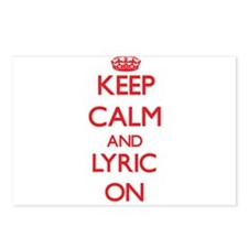 Keep Calm and Lyric ON Postcards (Package of 8)