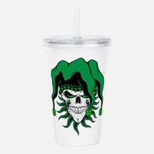 Irish Jester Skull Acrylic Double-Wall Tumbler