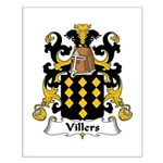 Villers Family Crest Small Poster