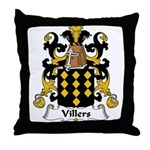 Villers Family Crest Throw Pillow