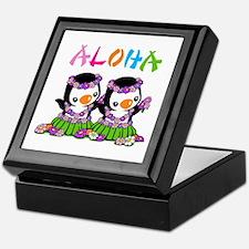 Aloha Penguins Keepsake Box
