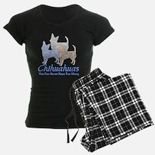 Never Too Many Chihuahuas Women's Dark Pajamas