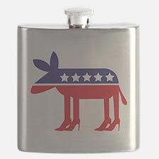 Democratic Donkey on Heels Flask