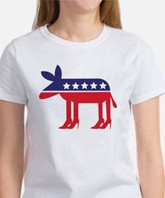 Democratic Donkey on Heels Tee