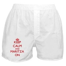 Keep Calm and Maritza ON Boxer Shorts