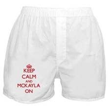 Keep Calm and Mckayla ON Boxer Shorts
