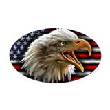 American eagle Oval Car Magnets