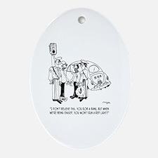 Robbery Cartoon 4881 Oval Ornament