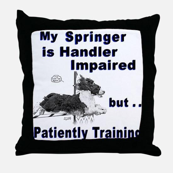 Springer Spaniel Agility Throw Pillow