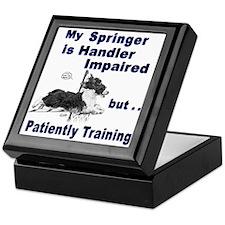 Springer Spaniel Agility Keepsake Box