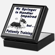 Springer Spaniel Agility Keepsake Box