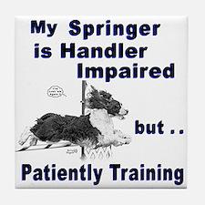 Springer Spaniel Agility Tile Coaster