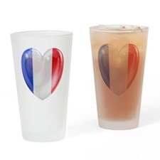 My French Heart Drinking Glass