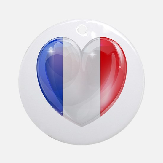 My French Heart Ornament (Round)