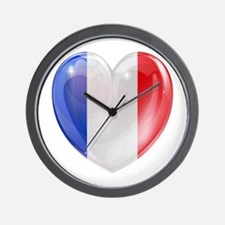 My French Heart Wall Clock